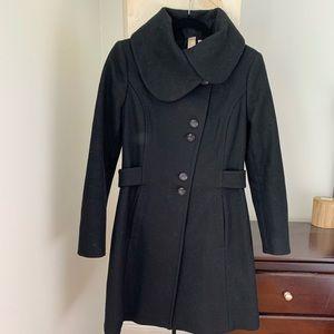 Soia & Kyo black wool coat
